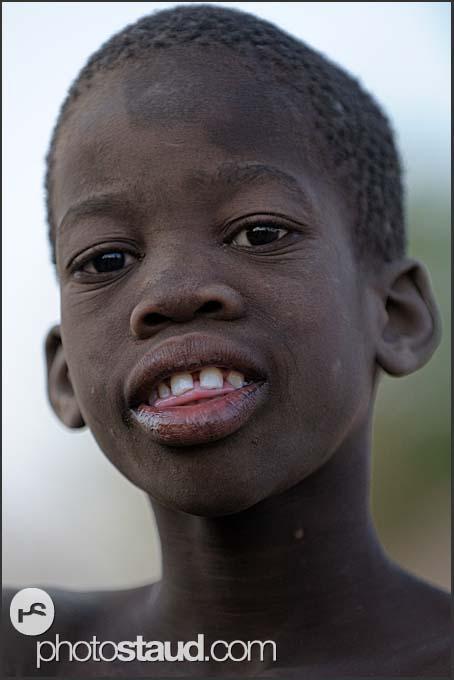 Portrait of African boy, Zambia