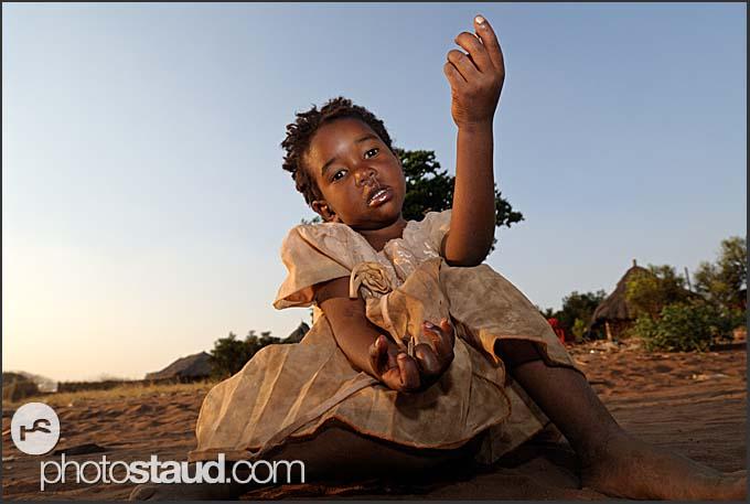 Village girl, Zambia