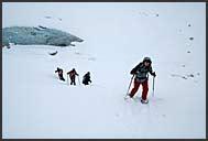 Glacial landscape, Zinal Glacier, Switzerland, Europe