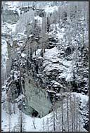 Winter landscape along the Zinal Valley, Switzerland, Europe