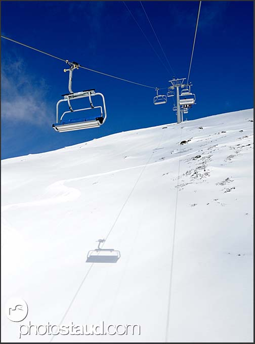 Gondola in Grimentz, Swiss Alps, Switzerland, Europe