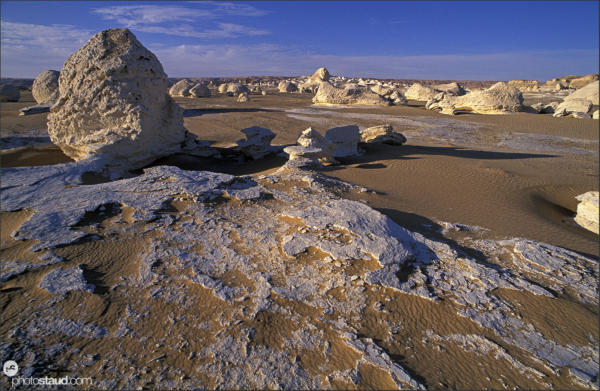 Fantastic scenery of the White Desert landscape, Egypt