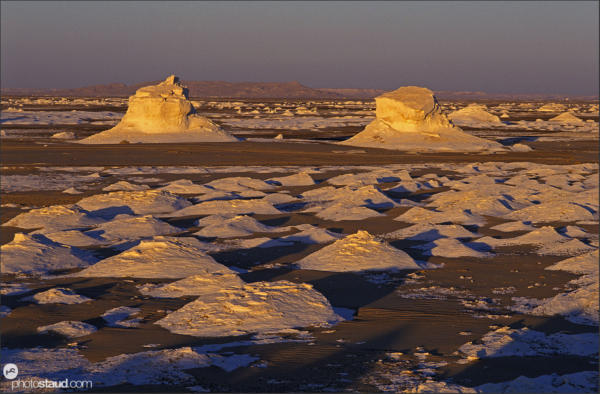 Rock formations of the White Desert, Egypt