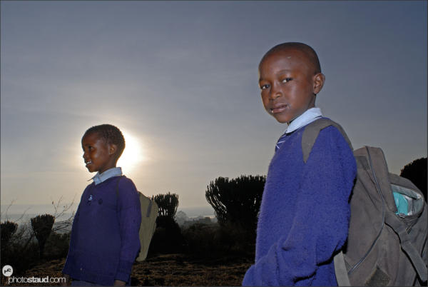 African people Maasai school children, Kenya