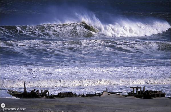 Shipwrecks at Skeleton Coast, Namibia