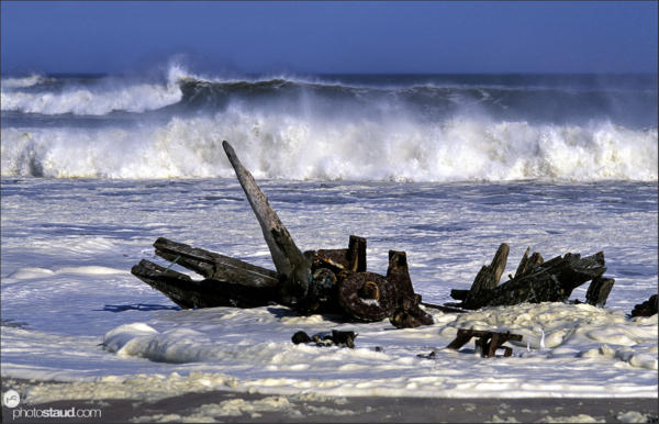 Shipwrecks at Skeleton Coast, Namibia