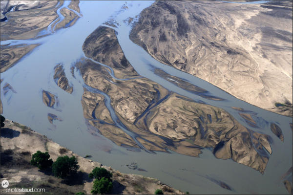 Aerial photograph of South Luangwa landscape, Zambia