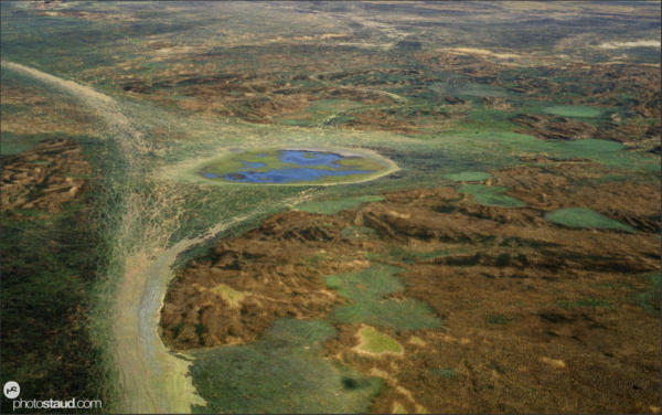 Aerial photograph of Kafue National Park, Zambia