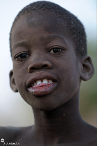 Portrait of African boy, Zambia