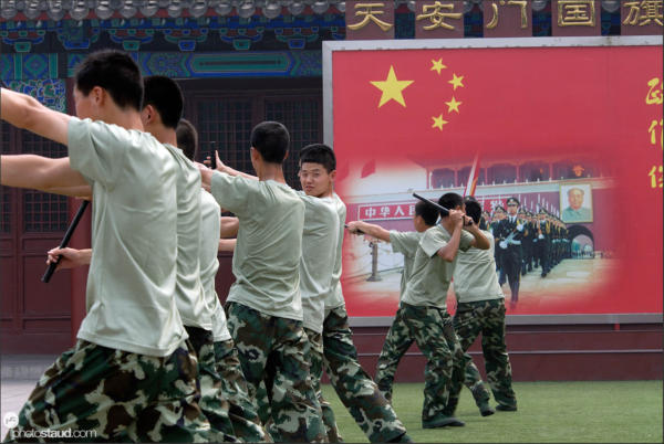 Military forces getting ready, Beijing, China