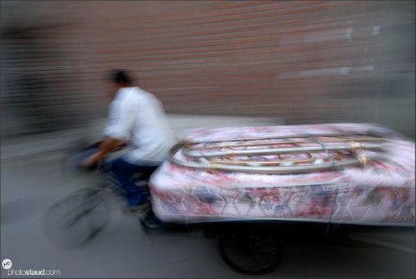 Hutong in motion, Beijing, China