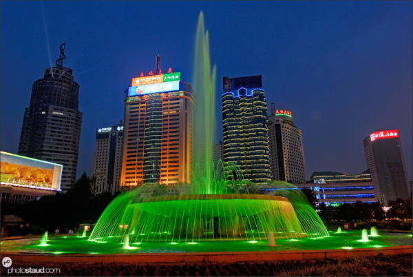 Kunming city at night, Yunnan, China