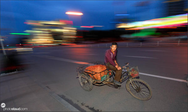 Kunming in motion, Yunnan, China