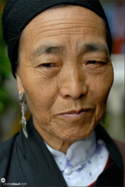Close up portrait of Chinese woman, China