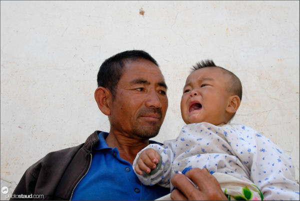 Chinese father and son - Wase, Yunnan, China