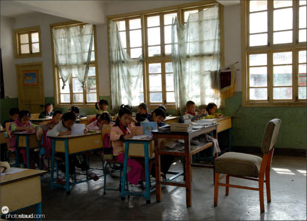 In a Chinese school, Lijiang, Yunnan, China