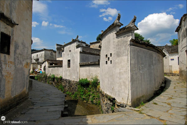 Architecture of Xidi village – UNESCO site, Anhui, China