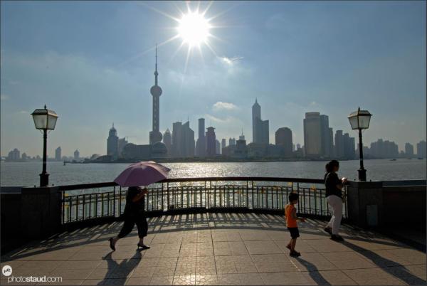Bund promenade and Pudong – classical view of Shanghai, China