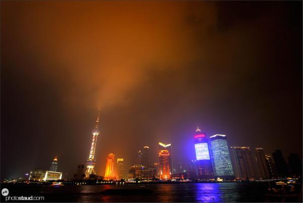 Pudong at night, Shanghai, China