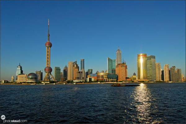 Huangpu River and Pudong skyline, Shanghai, China
