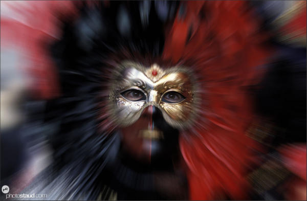 Zoom-in portrait of Carnival Mask in Venice, Italy